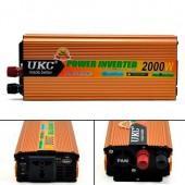 Перетворювач напруги DC / AC авто інвертор 2000Вт 12-220В SSK-2000W