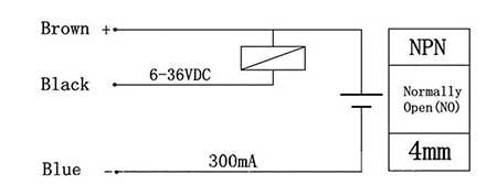 Приблизительная схема подключения датчика