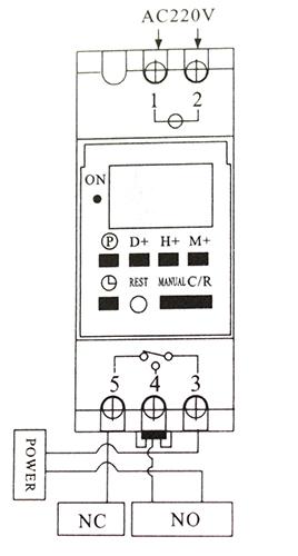 Схема подключения реле времени TP8A16