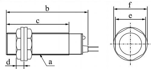 Чертеж и размеры E3F-DS30C4