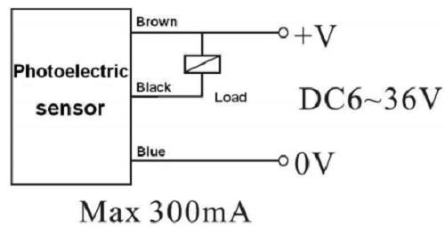 Схема включения датчика E3F-DS30C4