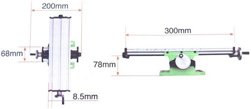 Размеры координатного стола BG-6300