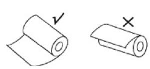 Правильность установки рулона с бумагой