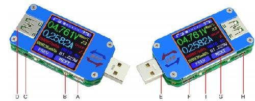 Устройство USB тестера UM25C