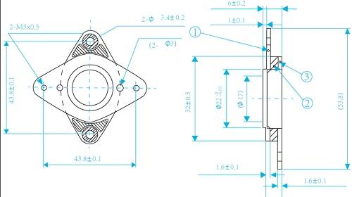 Чертеж демпфера для шагового двигателя NEMA17