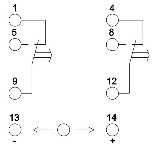 Схема подключения реле H3Y-2