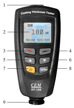Общий вид толщиномера DT-156