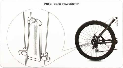 Установка подсветки на колесо велосипеда