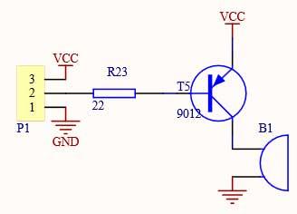 Схема зуммера, модуля звука